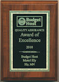 Budget Host Inn Quality Assurance, Award of Excellence for 2011